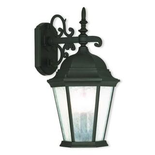Livex Lighting Hamilton Textured Black 3-light Outdoor Wall Lantern