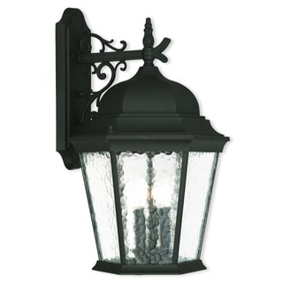 Livex Lighting Hamilton Textured Black 3-light Outdoor Wall Lantern