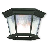 Livex Lighting Hamilton Textured Black Aluminum 3-light Outdoor Ceiling Mount