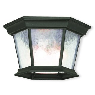 Livex Lighting Hamilton Textured Black Aluminum 3-light Outdoor Ceiling Mount