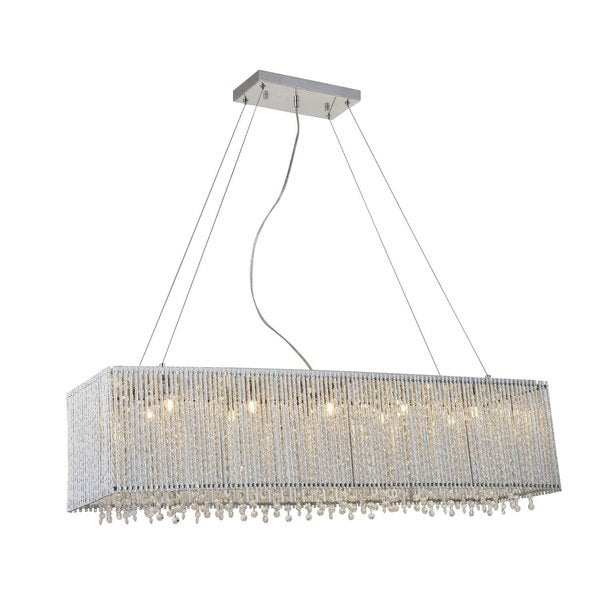 Crystalline Modern 10-light Crystals Chandelier