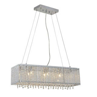 Crystalline Modern 6-light Crystal Chandelier