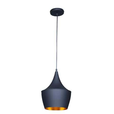 Berkley Black and Gold Aluminum Single-light Pendant