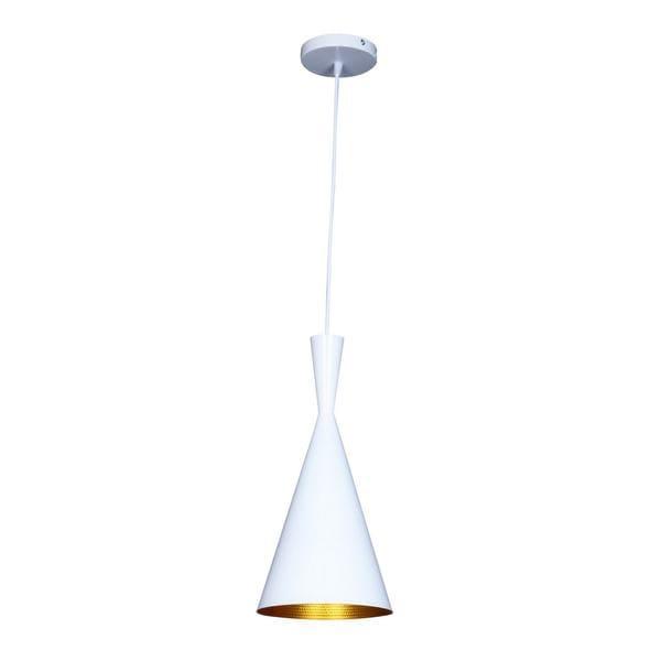 Berkley White and Gold Single Light Pendant