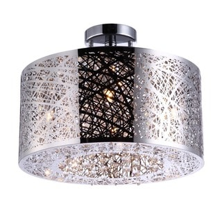 Bromi Design Royal Metal/Crystal 4-light Drum Pendant