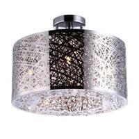 Bromi Design Royal Metal/Crystal 4-light Drum Pendant - Brown