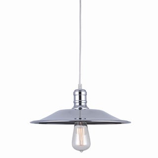 Astor Court Industrial 1-light 14-inch Chrome Pendant Lamp