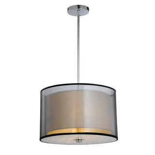 Bromi Design Phoenix Metal/Crystal 2-tier Shade Pendant