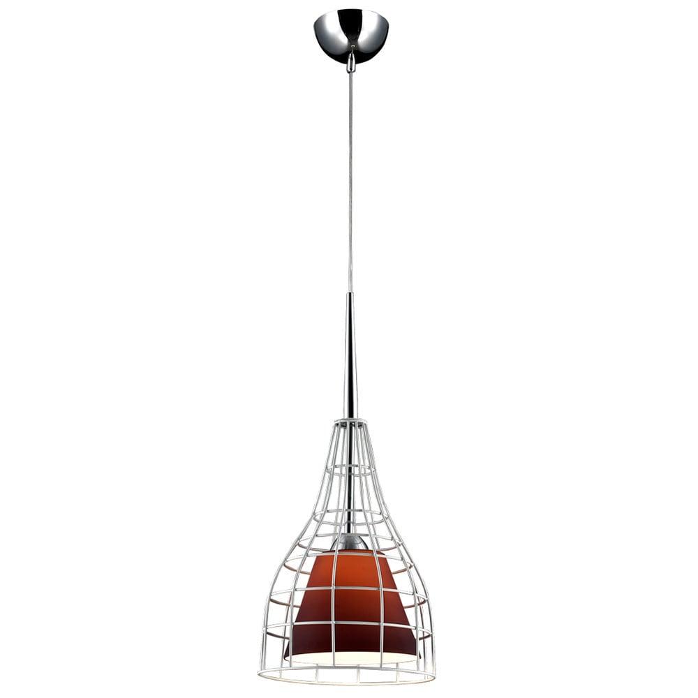 Bromi Design Nixon Purple Glass/Metal Lighting Pendant (W...