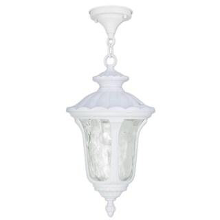 Livex Lighting Oxford White Aluminum 1-light Outdoor Chain Lantern