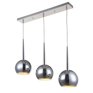 Bromi Design Wade Chrome Metal 3-light Pendant
