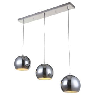 Bromi Design Wade Chrome 3-light Island Pendant