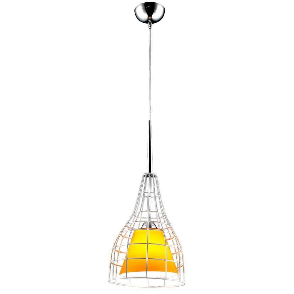 Bromi Design Nixon Yellow Glass/Metal Lighting Pendant (W...