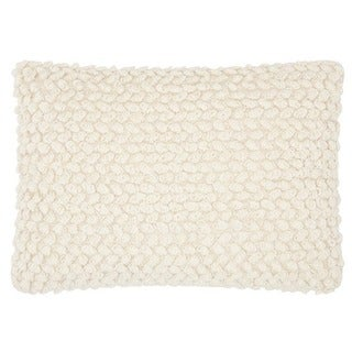 Mina Victory Lifestyle Thin Group Loops Ivory Throw Pillow by Nourison (14 x 20-inch)