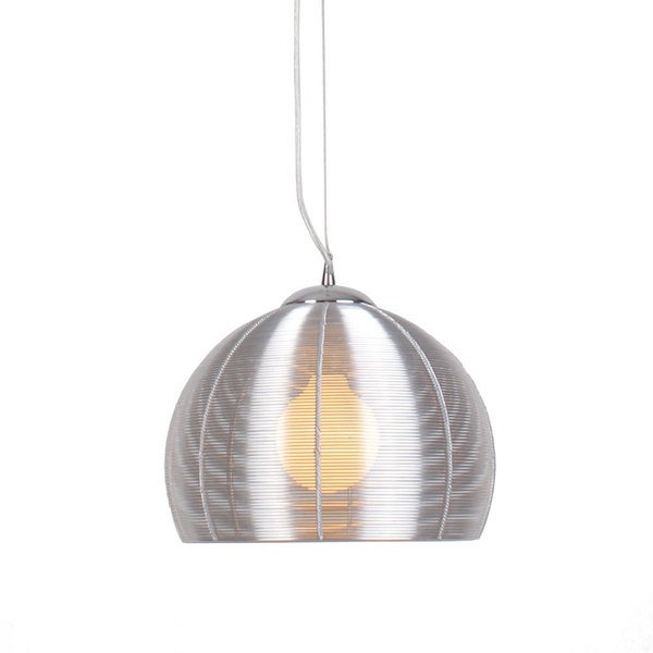 Lenox 1-light Round Modern Silver Pendant Light Fixture