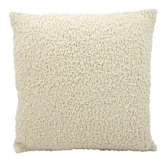 Mina Victory Lifestyle Velvet Sponge Ivory Throw Pillow by Nourison (20 x 20-inch)