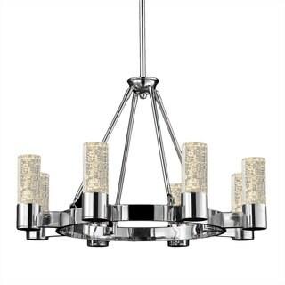 Talon Metal and Glass 8-light Round Pendant