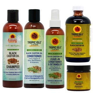 Tropic Isle Jamaican Black Castor Oil Haircare 5-piece Set