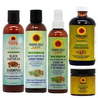 Tropic Isle Jamaican Black Castor Oil Haircare 5-piece Set