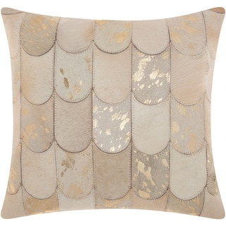 kathy ireland Lady Fingers White/Gold Throw Pillow by Nourison (20-Inch X 20-Inch)