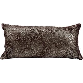 Mina Victory Laser Cut Bordeaux Plat Dante Platinum Throw Pillow by Nourison (10 x 20-inch)
