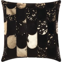kathy ireland Lady Fingers Black/Gold Throw Pillow by Nourison (20-Inch X 20-Inch)