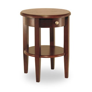 Winsome Concord Walnut Finish Wood Round End Table