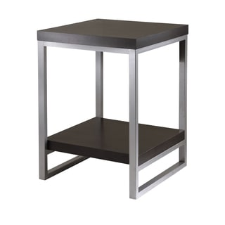 Winsome Jared Home Decor Espresso Enamel Steel Tube End Table
