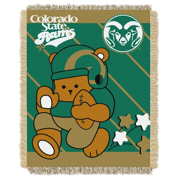 Colorado State Multicolor Acrylic Baby Blanket