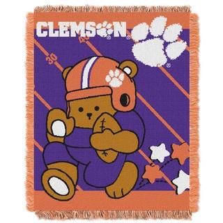 COL 044 Acrylic Clemson Baby Blanket