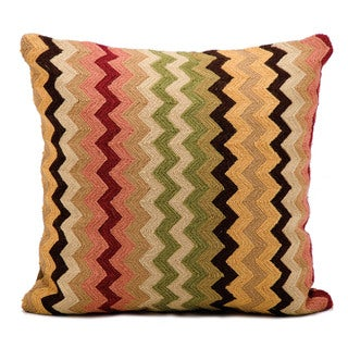 kathy ireland Flamestitch Multicolor Throw Pillow by Nourison (18 x 18-inch)