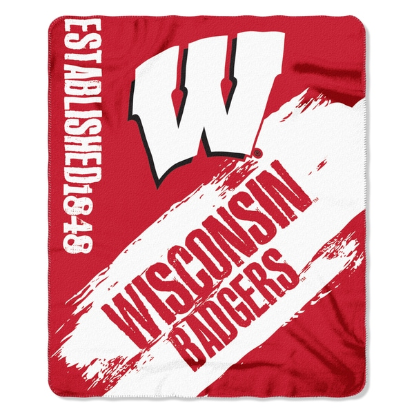COL 031 Wisconsin Painted Fleece Throw