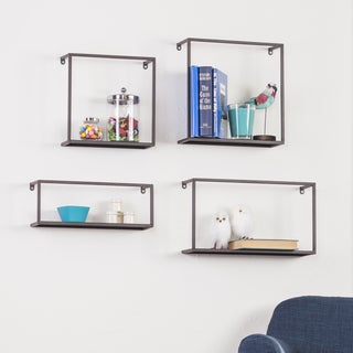 Holly & Martin Zyther 4-piece Metal Wall Shelf Set