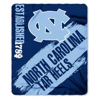 Multi-color Polyester North Carolina Painted Fleece Throw