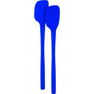 Tovolo Flex-Core Stratus Blue Silicone Mini Spatula and Spoonula (Set of 2)