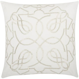 kathy ireland Infinity Silver Throw Pillow by Nourison (18 x 18-inch)