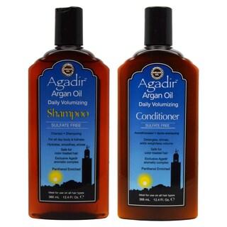 Agadir Argan Oil 12.4-ounce Daily Volumizing Shampoo and Conditioner Set