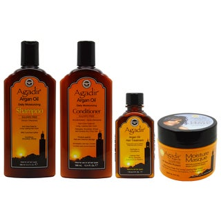 Agadir 100 Percent Natural Certified Organic Argan Oil Daily Moisturizing Combo