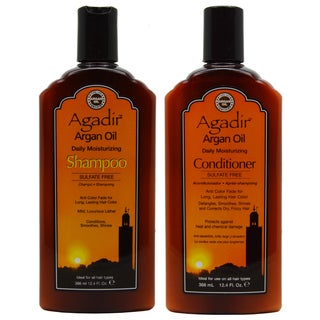 Agadir Argan Oil 12.4-ounce Daily Moisturizing Shampoo and Conditioner 2-piece Set