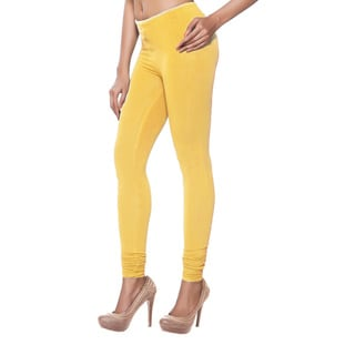In-Sattva Women's Yellow Cotton Indian Leggings