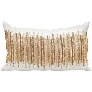 kathy ireland Heart Beat Gold Throw Pillow by Nourison (12 x 20-inch)