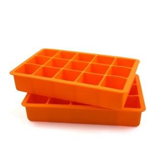 Tovolo Perfect Cube Orange Peel Silicone Ice Cube Tray (Set of 2)