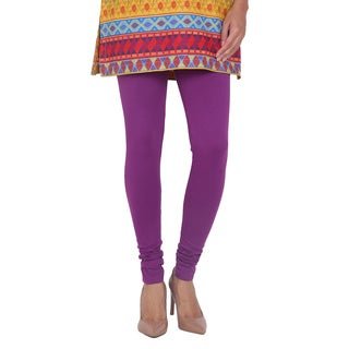 In-Sattva Women's Purple Cotton Leggings