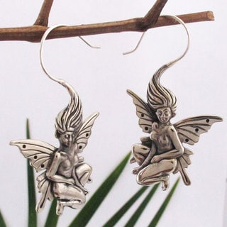 Fairy Whisperer Sterling Silver Earrings (Bali)