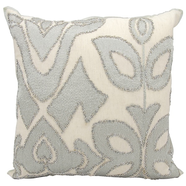 kathy ireland Organic Collage Silver Throw Pillow by Nourison (20 x 20-inch)