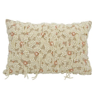 Mina Victory Luster Cascade Natural 12 x 18-inch Throw Pillow by Nourison