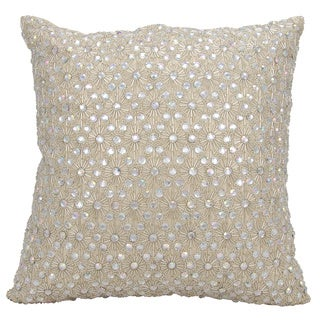 Mina Victory Luster Starburst Champagne 16 x 16-inch Throw Pillow by Nourison