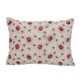 Mina Victory Luster Esmerelda Garnet 10 x 14-inch Throw Pillow by Nourison