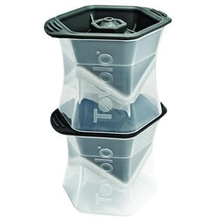 Tovolo Clear Plastic Colossal Ice Cube Mold (Set of 2)