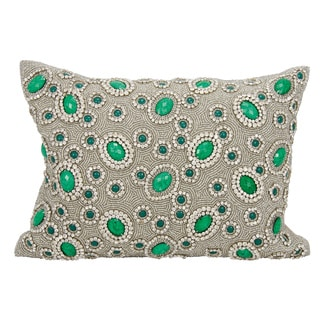 Mina Victory Luster Esmerelda Emerald 10 x 14-inch Throw Pillow by Nourison